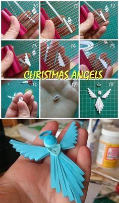 Christmas angels 3 - Quilling could be the art of making pictures, objects and things from coils of paper that were molded into vario Paper Quilling Tutorial, Paper Quilling Cards, Paper Quilling Patterns, Quilling Flowers, Quilling Designs, Quilling Videos, Quilling Paper Craft, Quilling Techniques, Paper Crafts
