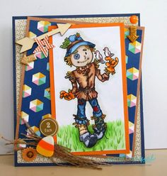 Scarecrow DIGI stamp!!  Some Odd Girl is your place for fall images!