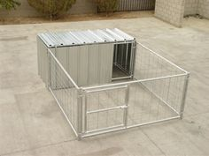 8' x 8' Hog Pen With Attached Shelter Enclosure