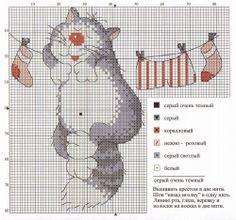 Schema punto croce Gatto Filo