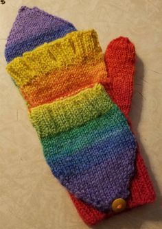 Winter Pride Gloves by RockingChairClassics on Etsy