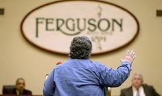 Ferguson Ferguson residents debate acceptance of plan to reform police and justice   -  Gerry Jasper speaks in favor of an agreement with the US Department of Justice during a city council meeting on Tuesday in Ferguson, Missouri.