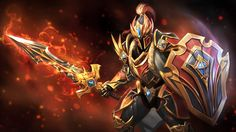 Dragons Ascension Davion Dota  Armor Shield Sword P Wallpaper Backgrounds Hero Wallpaper Armor