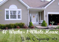 40 Weeks 1 WHOLE house #Organize