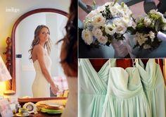 Aqua mint bridesmaids dresses! River Run Country Club. Davidson NC Wedding Kate & John » Indigo Photography Blog