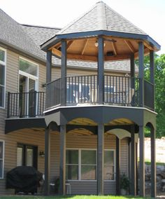 Can't decide between a gazebo or a deck? Why not have both?   AridDek watertight decking boards provide the added bonus of an integrated gutter system for a dry, usable area under the deck.  http://www.wahoodecks.com/ariddek/