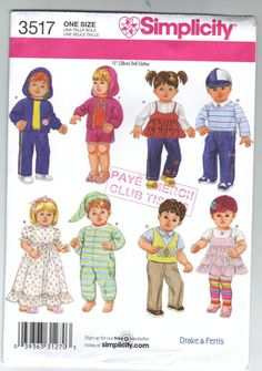 Bitty Baby clothes patterns