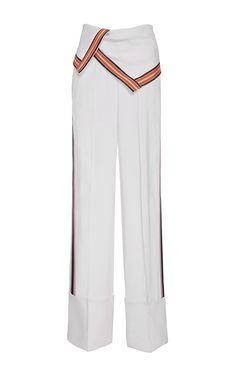 Wide Leg Foldover Pants by DIANE VON FURSTENBERG for Preorder on Moda Operandi