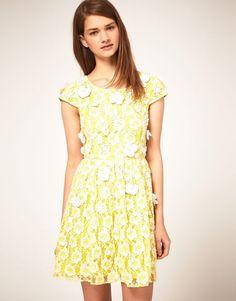 summer pastels + ASOS skater dress