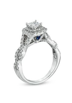 Vera Wang Love Princess Cut Diamond Sapphire