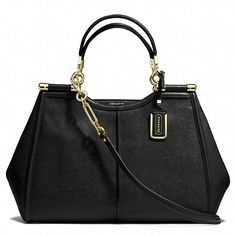 // Madison Caroline satchel in textured leather — Coach, $658