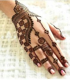 Explore latest Mehndi Designs images in 2019 on Happy Shappy. Mehendi design is also known as the heena design or henna patterns worldwide. We are here with the best mehndi designs images from worldwide. Henna Hand Designs, Mehndi Designs Finger, Simple Arabic Mehndi Designs, Mehndi Designs For Beginners, Wedding Mehndi Designs, Mehndi Designs For Hands, Henna Tattoo Designs, Mahendi Designs Simple, Mehndi Simple