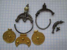 Treasure of gold and silver woman jewelry, 10-11 centuries.  Kievan Rus,  Slavs, Vikings.