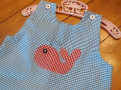 Size 2 3 Toddler Boy Whale Hand Applique Hand by LittleMarin,