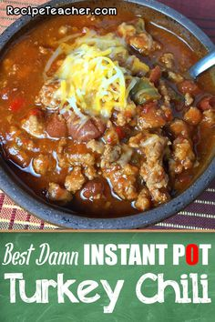 Simple ingredients for an amazing chili. This recipe for Instant Pot Turkey Chili is super easy to make with just a few simple ingredients. Absolutely delicious and will be one of your favorites! Turkey Chilli, Ground Turkey Chili, Ground Turkey Recipes, Chili Instant Pot Recipe, Instant Pot Dinner Recipes, Healthy Sweet Snacks, Healthy Recipes, Slow Cooker, Comida Keto