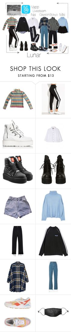 """""""Lunar 음력 Vapp Livesteam"""" by lunar-official ❤ liked on Polyvore featuring Puma, Margaret Howell, UNIF, Rachel Comey, Reebok, VFiles, Monki, Chloé, Mostly Heard Rarely Seen and adidas"""