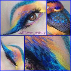 """My look for Day 6 TROPICAL BIRDS!  I used #redcherrylashes WSP from #lashcloset and #mehronmakeup detailz liners pressed pigment and #paradisemakeupAQ #jessica7kchallenge #wallflower_artistry"" Photo taken by @wallflower_artistry on Instagram, pinned via the InstaPin iOS App! http://www.instapinapp.com (06/17/2015)"
