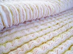 Make a chenille blanket. Love the suggestion on how to do it with your long arm machine.