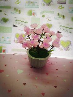 [DIY] Peach blossom paper flowers/桃花 - hướng dẫn làm hoa đào từ giấy nhún
