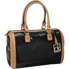Calvin Klein Hudson Textured Embossed Satchel (Black)