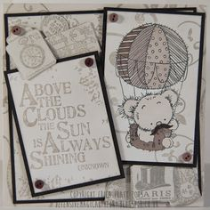 LOTv - Quotables - Celebrate, Grunge Swirls, Tags. Card by Erica