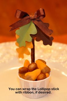 Candy or nut Cups for the Thanksgiving Table