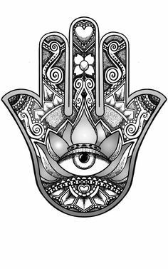 hamsa hand design by andywillmore - Hand Nail Ideas Vine Tattoos, Irish Tattoos, Old Tattoos, Small Tattoos, Script Tattoos, Dragon Tattoos, Brown Tattoos, Arabic Tattoos, Tattoo Fonts