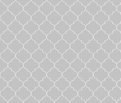 ogee_grey_soft fabric by hollydavidson on Spoonflower - custom fabric