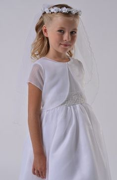 online shopping for Us Angels Communion Bolero (Little Girls & Big Girls) from top store. See new offer for Us Angels Communion Bolero (Little Girls & Big Girls) Little Girl Dresses, Girls Dresses, Flower Girl Dresses, Angel Dress, The Perfect Girl, First Communion Dresses, Dresses For Less, Girls Party Dress, Girl Online