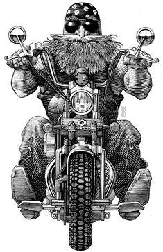 Biker by Andrey Kokorin, via Behance
