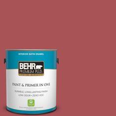 BEHR Premium Plus 1-gal. #M150-6 Lingonberry Punch Satin Enamel Interior Paint