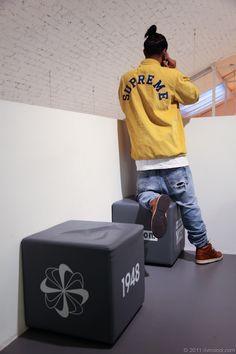 Supreme coach, Levi's denim, Nike dunks