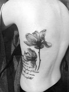 X-ray Magnolia Flower Tattoo by Jo-lyn
