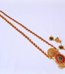 Buy LAKSHMI TEMPLE LONG HAAR NECKLACE SET necklace-set online