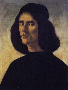 Portrait of a Man by BOTTICELLI, Sandro #art