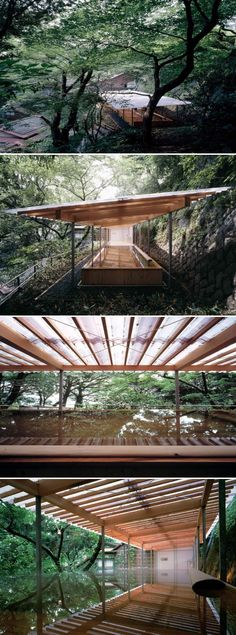 Kengo Kuma Horai Onsen Bath House / kengo kuma and associates Architecture Design, Amazing Architecture, Contemporary Architecture, Landscape Architecture, Landscape Design, Architecture Interiors, Light Architecture, Outdoor Baths, Kengo Kuma