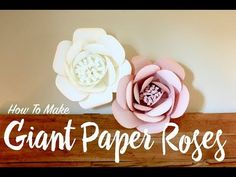 Learn how to make giant paper roses with this free video tutorial and printable template. Gorgeous flowers make great photo backdrops, party decor, & more!