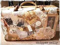 Shabby vintage suitcase