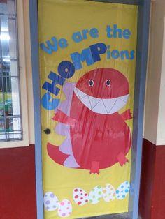 Dinosaur theme door & Dinosaur decoration classroom door | Things I Made! | Pinterest ... Pezcame.Com