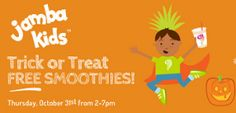 FREE Smoothie for Kids at Jamba Juice on 10/31 on http://hunt4freebies.com