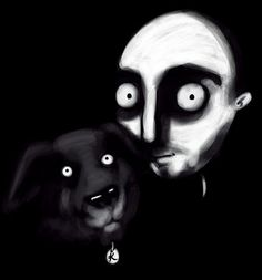 I will draw you in a creepy style