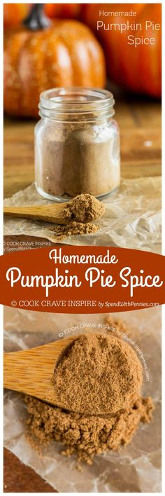 Easy Homemade Pumpkin Pie Spice! This pumpkin pie spice recipe is a blend of warm fall spices you likely have in your cupboard already! Perfect for fall baking!