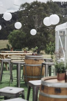 Tess & Bradley's Modern Handmade Country Wedding