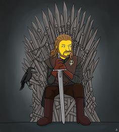 Ned Stark Simpson - Game of Thrones