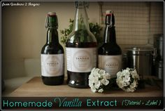 from Gardners 2 Bergers: ➷ Homemade Vanilla Extract + Printable ➹