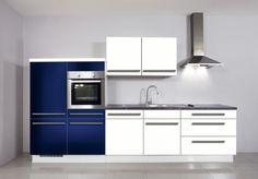 #Küche in Blau #Küchenzeile #Singleküche www.dyk360-kuechen.de