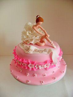Ballet Soirée - Ballerina Cake, photo only. Ballet Birthday Cakes, Ballet Cakes, Ballerina Cakes, Ballerina Birthday, Birthday Cake Girls, Cupcakes Princesas, Jasmine Cake, Dance Cakes, Bolo Fack
