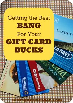 """While some people consider gift cards """"free money,"""" around here we use gift cards just like we would hard-earned cash.  We stretch them as far as they can go!  Here are 5 tips to help you do the same! Retirement, Saving for Retirement"""