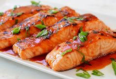 Broiled Salmon with Thai Sweet Chili Glaze-  made with tilapia. it was good with coconut rice. Rate 7