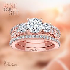 Barkev's Rose Gold Engagement Set - 7973S2PW